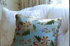 I love every single fabric in this photo (Cathy Kincaid Interiors)