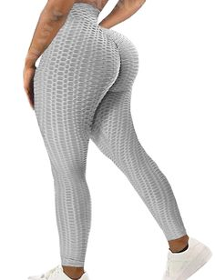 ❣ Non-cellulite & Stretchy Fabric - 92% polyester and 8% spandex.Brazilian Boost High Waisted Leggings made of textured fabric can hide your skin flaws or any cellulite! Strong compression high waist hugs your waist, hiding any muffin top.The soft and non-see-through leggings provide maximum comfort and protection during your every pose and movement.❣ Butt Lift Leggings - Womens sexy booty scrunch leggings,butt popping leggings,lifting yoga pants,workout running gym pants.With scrunch butt b Full Body Dumbbell Workout, Butt Workout, Workout Leggings, Women's Leggings, Tights, See Through Leggings, Compression Pants, Yoga Pants, Gym Pants