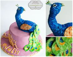 Peacock Cake  Cake by DeliciaDesigns