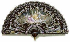 Brise fan made of ebony, 1890.