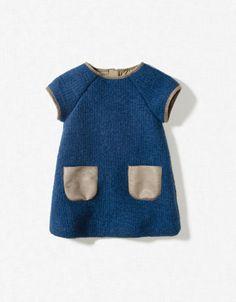 Zara baby girl blue dress