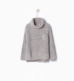 Polo neck knit sweater-Cardigans and Sweaters-Girl-Kids | 4-14 years-KIDS | ZARA United States
