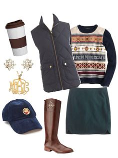 Classic preppy outfit for fall/winter