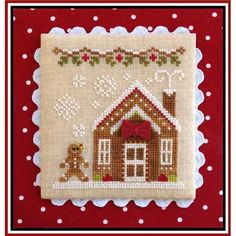 Gingerbread Village 5 - Gingerbread House 3 (grille + bouton) - CCN