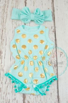 darling dotted romper