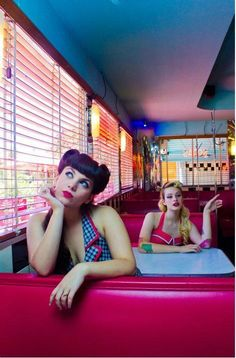 I would love to do a photo shoot in a 50's diner