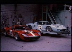 1966 Le Mans 24h, Hôtel de France, Comstock Racing Team/F. R. English Ltd. with the Ford GT 40 nr12 (Rindt-Ireland) dnf & Scuderia Filipinetti with the Ford GT 40 nr14 (Sutcliffe-Spoerry) dnf . ©Hôtel de France . # Inside The Motorsport Paddock #