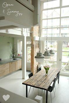 open, airy kitchen.