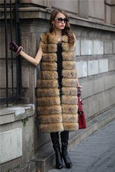 Aliexpress.com  Comprar Imitación de piel de visón zorro mujeres 2015 de  invierno nueva 2f577720c20