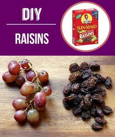 make homemade raisins