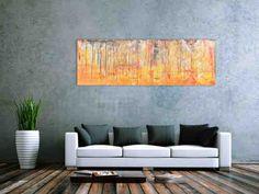 Abstraktes Acrylbild orange sehr modern