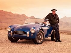 Carrol Shelby and the very first Cobra (the one that started it all)