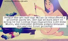 http://waltdisneyconfessions.tumblr.com/post/16057524674/people-who-get-mad-that-mulan-is-considered-a