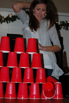 Minute to win it party games: Are you going to host your own minute to win it party and try these crazy challenges? Here are some creative and fun party games which will surely help you. Family Game Night, Family Games, Games For Kids, Games To Play, Holiday Games, Christmas Party Games, Nutcracker Christmas, Xmas Party, Holiday Fun