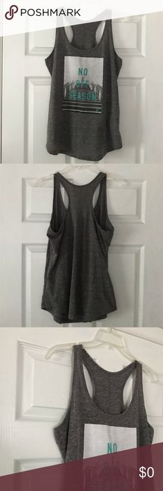 🎽OLD NAVY Active Wear Workout Tank Top Size L🎽 No Off Season workout tank top by Old Navy. Super soft and semi-fitted. A great motivational top to wear to the gym. In pre-loved condition.   🎽Pre-loved condition  👟TTS  ✨Smoke Free/Pet Free Home  💄NO Trades   Reasonable offers are welcome! Notify me with any questions. Feel free to bundle! Thanks for shopping my closet Old Navy Tops Tank Tops