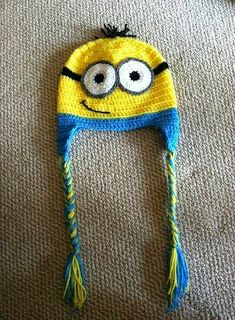 Hand Crocheted Minion hat! Despicable Me