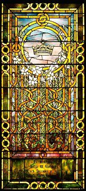 ELIZA M. MORGAN WINDOW, c. 1908  Leaded glass  Tiffany Glass and Decorating Company