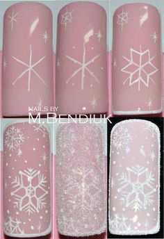 снежинки на ногтях