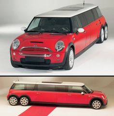 Mini Cooper Limousine  Cool Mini XXL Limo features Mini Cooper S engine and tuning kit.