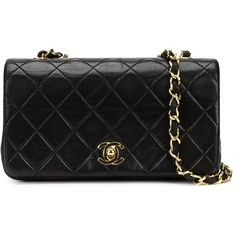 Chanel Vintage mini quilted cross body bag (4,839 CAD) ❤ liked on Polyvore featuring bags, handbags, shoulder bags, black, quilted shoulder bag, black quilted handbag, black crossbody purse, crossbody shoulder bags and chanel purses