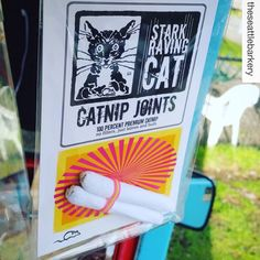 So good, even a mobile dog treat truck carries our Catnip Joints. Thanks, the Seattle Barkery! Love, StarkRavingCat