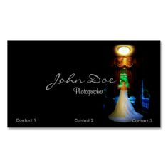 Wedding Photographer Business card with bride. This is a fully customizable business card and available on several paper types for your needs. You can upload your own image or use the image as is. Just click this template to get started!