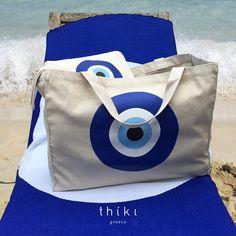 The Evil Eye Beach Bag