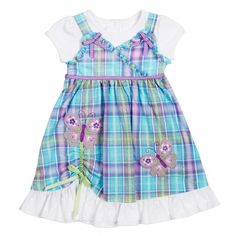 Why did I ban myself from buying any more baby clothes, and then find this cute litte dress for $9.25!!!
