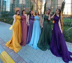 One Shoulder Bridesmaid Dresses, Cheap Bridesmaid Dresses, Wedding Party Dresses, Long A Line, Engagement