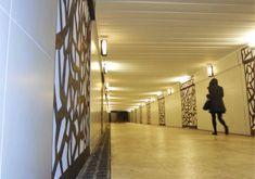 Design d'espace - Réhabilitation urbaine - passage sous-terrain MIMONT - Cannes 06 - Mise aux normes PMR