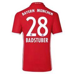 16-17 FC Bayern Munichen Cheap Home Replica Shirt #28 BADSTUBER [E632]