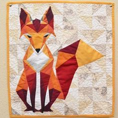 Fox quilt by west and arrow quilts