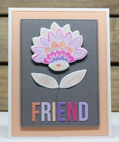 Hello there and thank you for stopping by today.   My card today uses the gorgeous Fancy Flowers  stamp set & Die-namics,along with the Wo...