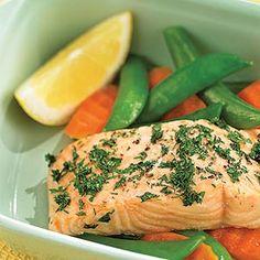 11 Dinner Recipes Under 300 Calories | Reader's Digest -First up Roast Lemon Herb Salmon!