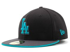 Los Angeles Dodgers New Era 59 Fifty MLB Graphite Hats
