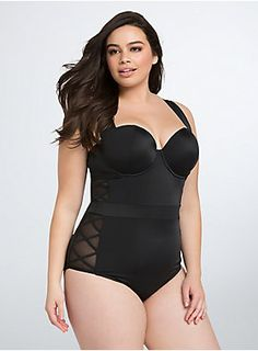 d4bd98324a6 Lattice One Piece Swimsuit. Plus Size ...