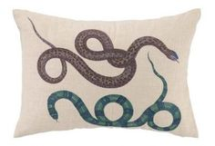 Double Snake Pillow- Teal - Clayton Gray Home