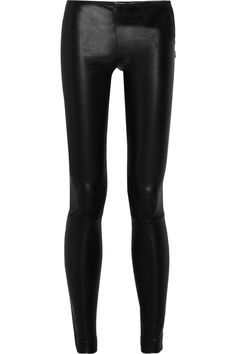 The Row|Moto stretch-leather leggings-style pants|NET-A-PORTER.COM