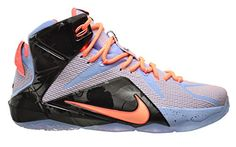 brand new 213cc 25445 Nike Lebron XII Easter Mens Shoes AluminiumSunset GlowHot LavaBlack  684593488 75 DM US -- Learn