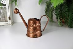 Excited to share the latest addition to my #etsy shop: Copper Watering Can, Display Watering Can, Mid Century Watering Can, Decorative Watering Can, Indoor Watering Can, Indoor Jungle. #housewares #homedecor #copper #midcenturymodern #madeinswitzerland #wildflowervase #weddingcentrepiece #vintagegarden #copperornament