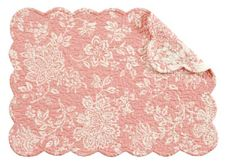 """Shelby Pink Placemat 13"""" x 19"""""""
