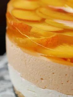 Cheesecake cu piersici fara coacere – Savoare si Bun Gust