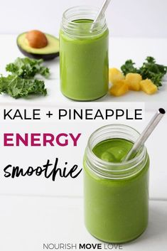 Energy Smoothie Recipes, Energy Smoothies, Breakfast Smoothie Recipes, Apple Smoothies, Weight Loss Smoothies, Healthy Smoothies, Healthy Fats, Healthy Drinks, Morning Smoothies