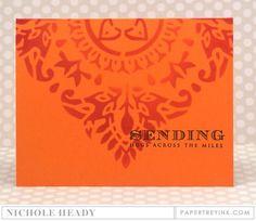 Sending Hugs Card by Nichole Heady for Papertrey Ink (June 2016)