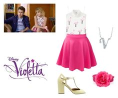 """""""Violetta (season 3 episode 1)"""" by cubed-debuc ❤ liked on Polyvore featuring Uniqlo, Moschino Cheap & Chic, Sif Jakobs Jewellery, What For and BERRICLE"""
