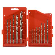 Mibro 895080 12-Piece Super Masonry Drill Bit Set. Ideal for drilling concrete, bricks, stone and other masonry materialsTough carbide tip for a long service lifeAll sizes 3/16-Inch and larger have 3 flats on the shaft to prevent slipping in the drill chuckWide spiral flutes quickly clear dust and debris from the cutting area. These bits are designed for rotary drills and are excellent for drilling brick, concrete, stone and ceramic tile (use at a slower speed).