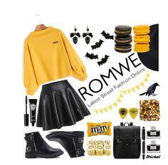 """SWEATSHIRT ROMWE"" by michal100-15-4 ❤ liked on Polyvore featuring Faber-Castell, HUGO, Meri Meri, Eyeko, romwe and Sweatshirt"