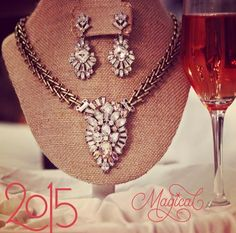 This is the Celestial Frost Statement Necklace & earrings set perfect for bringing in the New Year! Upgrade your style in 2015 with Chloe + Isabel:  www.chloeandisabel.com/boutique/silenagaines  #jewelry #bridaljewelry #fashion #style #accessories #2015