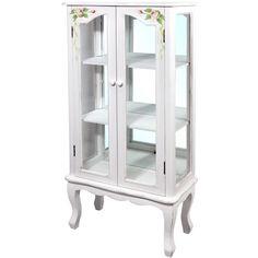 Sehen Sie schon diese Vitrine??? Der Schrank mit Glass und schönen Blumen. Möbel ist aus der Kollektion im heimischen Stil French Cottage. Abmessungen: 126 cm x 61 cm x 31cm Unten unsere Auktion. #vitrine #schrank #auktion #french #cottage #kollektion