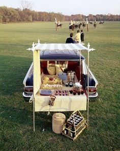 Tail-gating - this is my idea of a picnic!